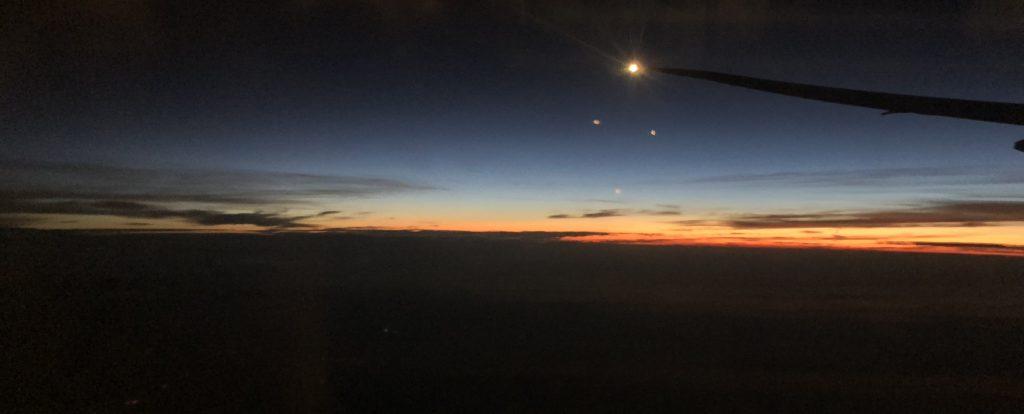Sonnenaufgang über Westchina